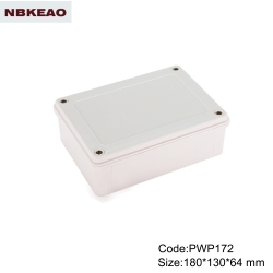 PWP172 Plastic ABS gray IP65 Water Resistant Enclosure for outdoor use outdoor electronics enclosure