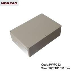 waterproof enclosure outdoor electronics enclosure  plastic waterproof enclosure PWP253 265*185*80mm