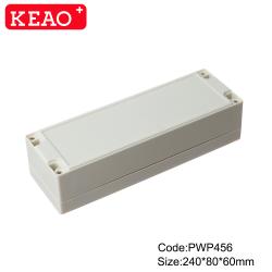 ip65 waterproof enclosure plastic waterproof junction box custom enclosure PWP456 with 240*80*60mm
