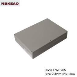 abs box plastic enclosure electronics ip65 waterproof enclosure plastic PPW265 with size 290*210*60m