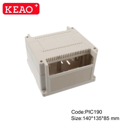 Manufacturer plastic controller module din rail enclosure box for industrial PIC190 with140*135*85mm