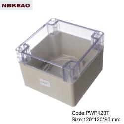 ip65 waterproof enclosure plastic outdoor abs enclosure waterproof enclosure box PWP123T 120*120*90