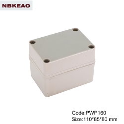China Plastic Waterproof Enclosure outdoor telecommunication enclosure PWP160 with size 110*85*80mm