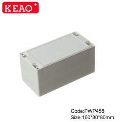 abs surface mount junction box ip65 waterproof enclosure plastic PWP455 with size 160*80*80mm