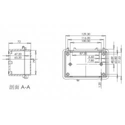 waterproof enclosure box for electronic ip65 waterproof enclosure plastic PWP645 135*85*72mm