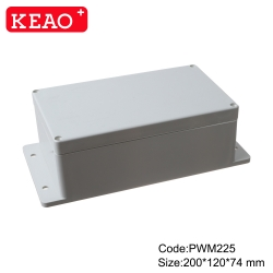 wall mounting enclosure box ip65 plastic waterproof enclosure PWP225 with size 200*120*74mm