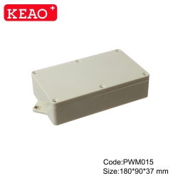 wall mounting plastic enclosure electric box waterproof plastic enclosure PWM015 with  180*90*37mm