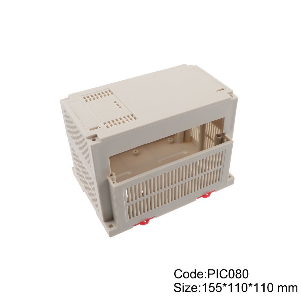 Custom Din Rail Enclosure Mounting Enclosure Electronic  Plastic Junction Box Cable Outlet Housing