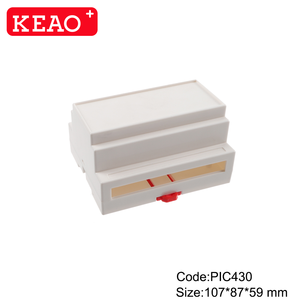 PLASTIC ABS junction electronics box enclosure din rail mount case PIC430 with size 107*87*59mm