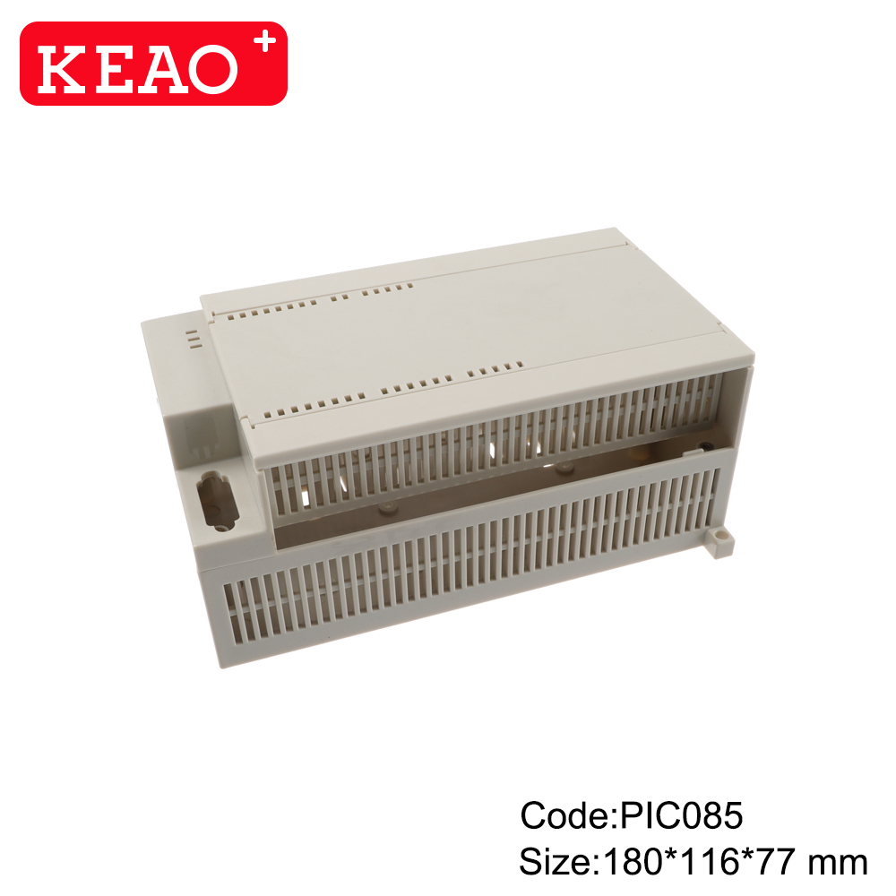 Manufacturer plastic controller module din rail enclosure box for industrial PIC085 with180*116*77mm