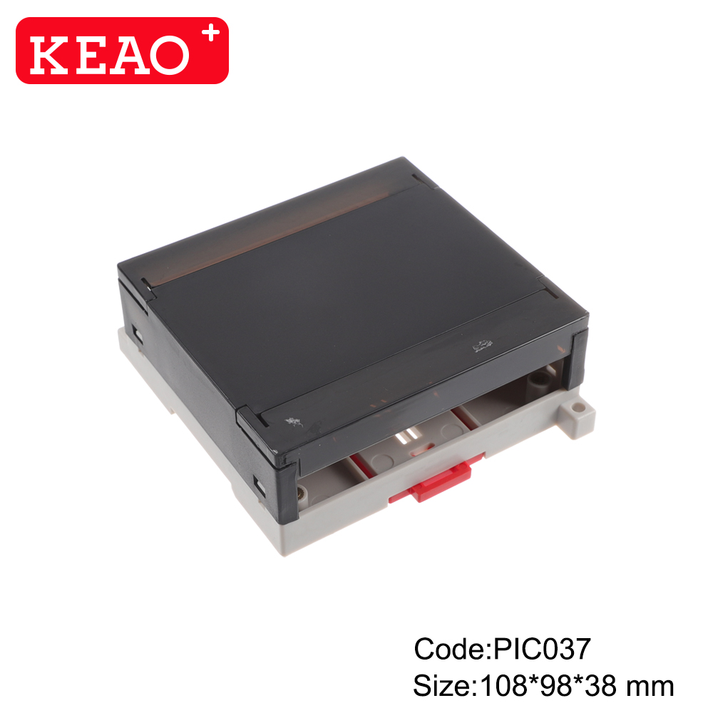 Din rail plastic enclosure electronic junction housing pcb case control box PIC037 with 108*98*38mm