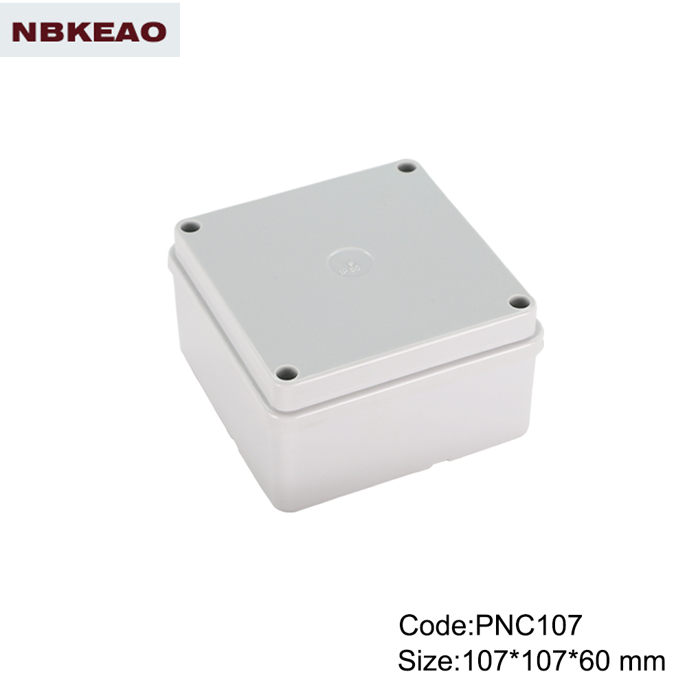 abs waterproof junction box waterproof cable junction box PWP107 with size 107*107*60mm