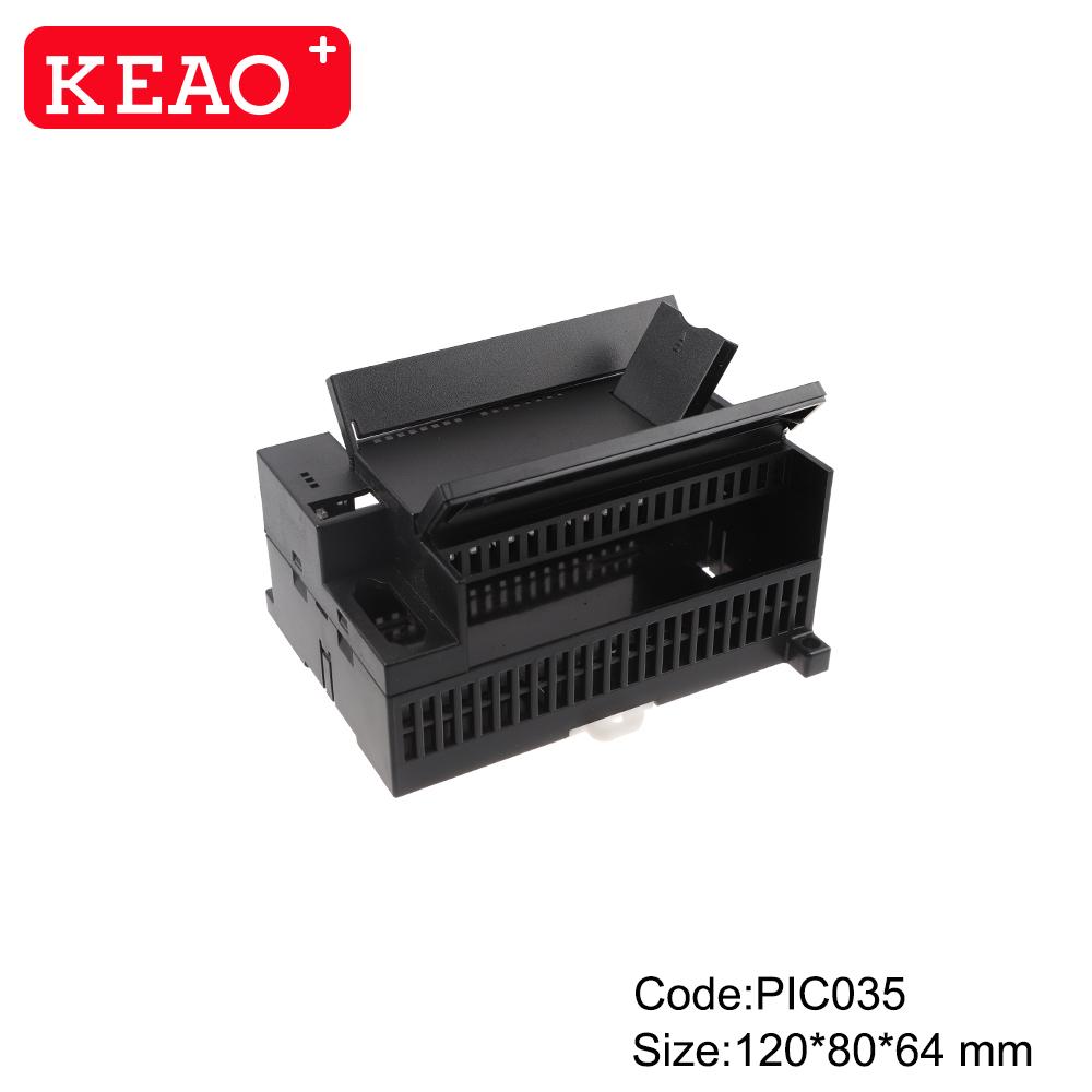 IP54 Universal DIN Rail Enclosure Manufacture din rail housing ABS Plastic case Electronic PIC035