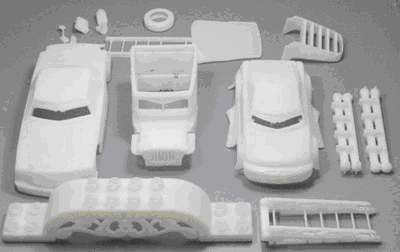 SLA rapid prototypes