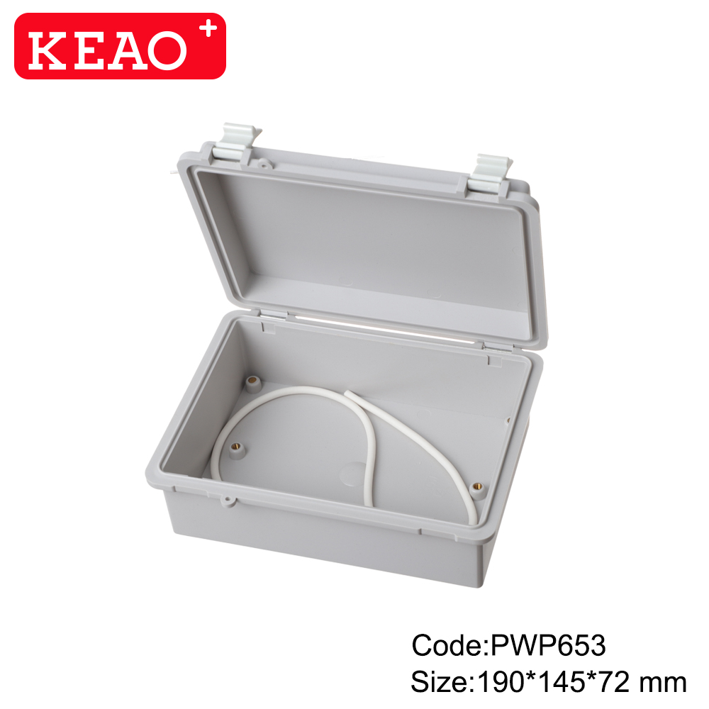 waterproof enclosure box for electronic enclosure box electronic PWP653 with size 190*145*72mm
