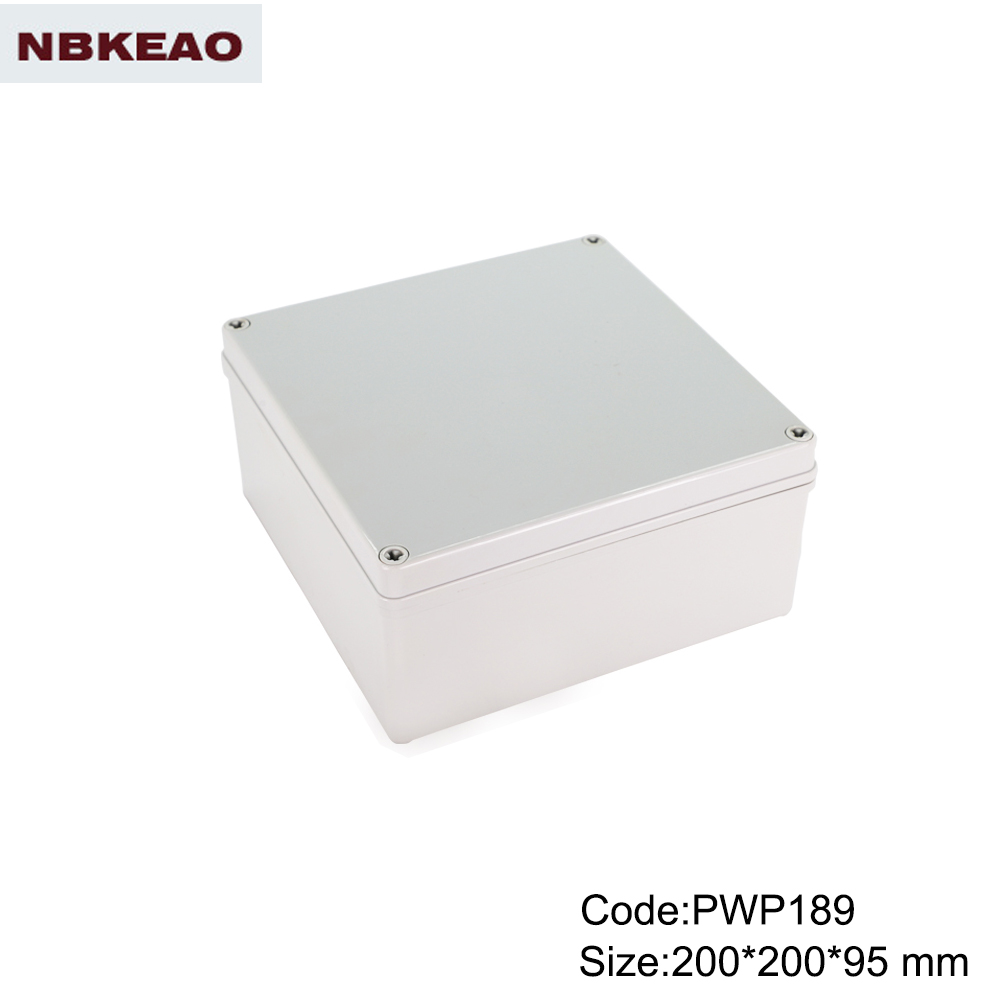 outdoor electronics enclosure waterproof enclosure box for electronic PWP189 with size 200*200*95mm