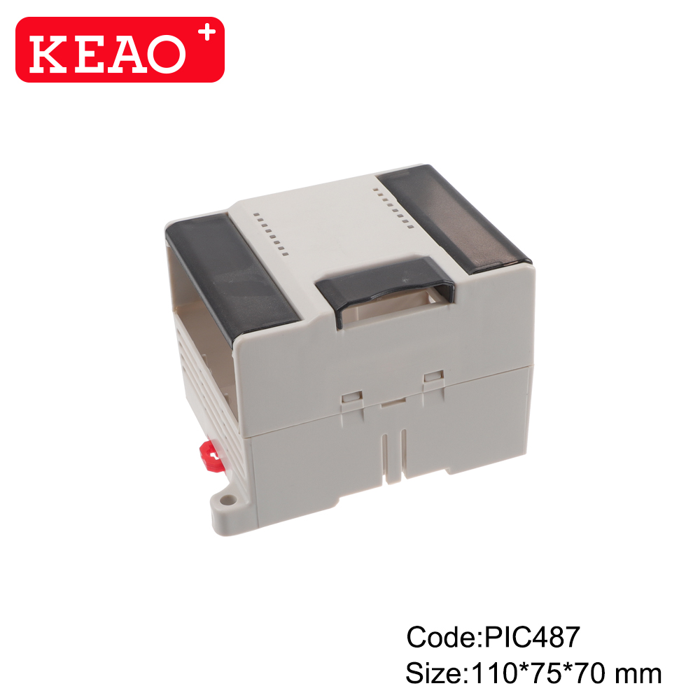 High quality plastic din rail enclosures for electronics projects from China PIC487 with 110*75*70mm