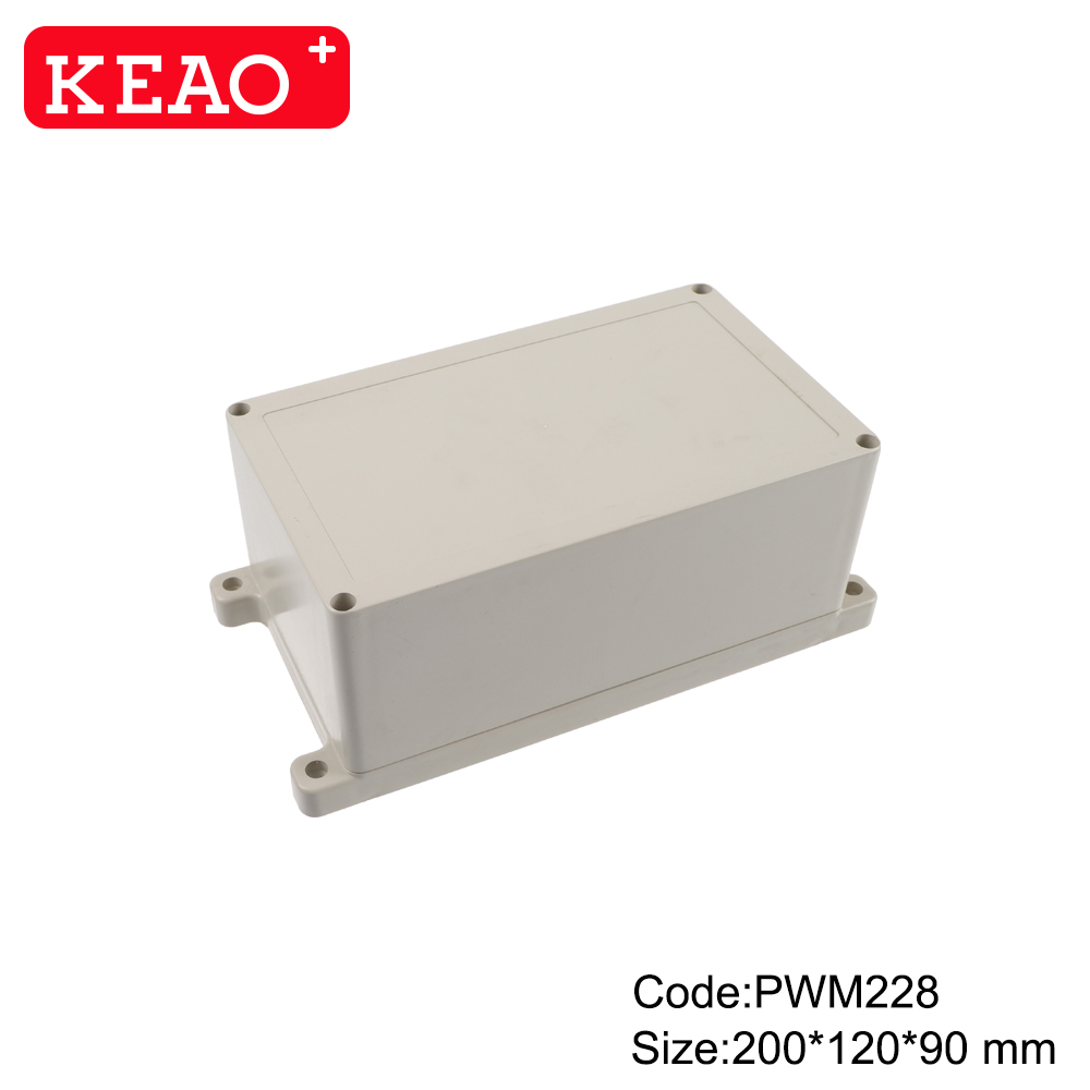 electronic plastic enclosures ip65 waterproof enclosure plastic Wall-mounting Case PWM228 200*120*90