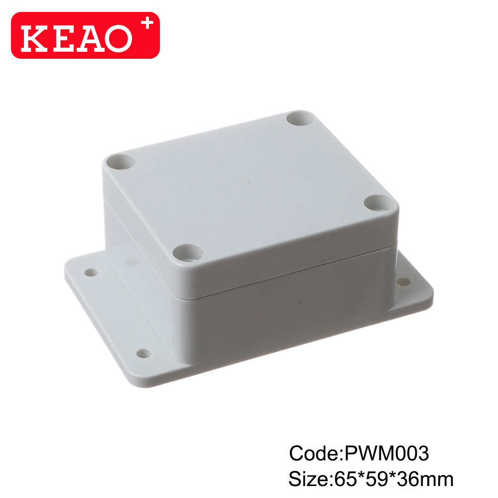 Wall-mounting Enclosure ip65 waterproof enclosure plastic junction box PWM003 with size 65*59*36mm