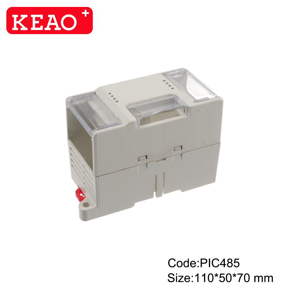 mold Injection Plastic Part Custom Plastic High Quality din rail box PIC485 with size 110*50*70mm