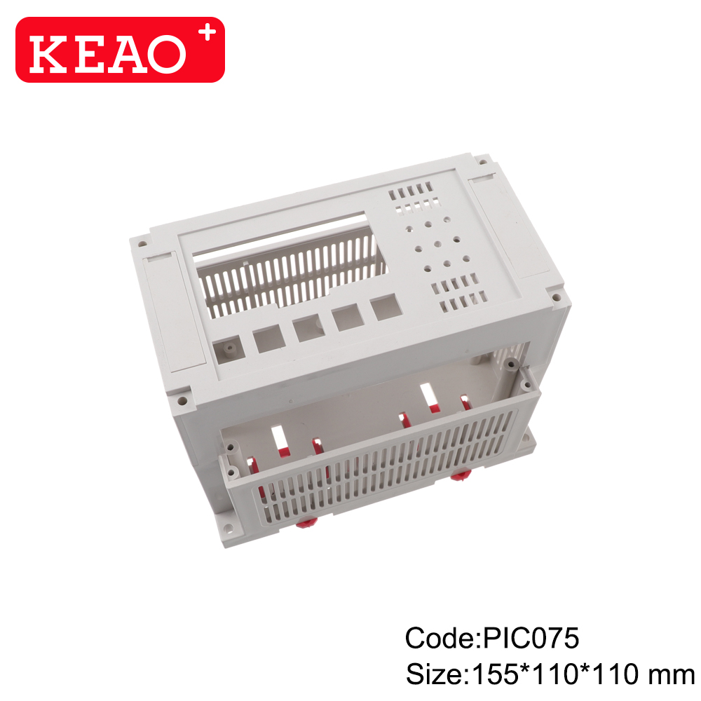 Manufacturer plastic controller module din rail enclosure box for industrial PIC075with155*110*110mm