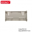 Plastic din rail enclosures project box din rail junction housing PIC101 with size 206*90*37mm