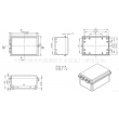 China Lockable  Enclosure PWP621 175*125*88 mm Ip66 rating plastic waterproof enclosure for electron