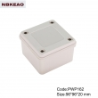 China Plastic Waterproof Enclosure plastic enclosure waterproof PWP162 with size 96*96*20mm