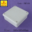 China Plastic Waterproof Enclosure Junction box ip65 plastic enclosure PWP169 with size 160*160*60mm