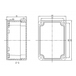 Low cost ABS enclosures Enclosure  outdoor enclosure waterproof  junction box PWP003 with 100*68*50m