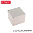 electrical enclosure weatherproof box outdoor waterproof enclosure PWP123 with size 120*120*90mm