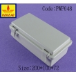 China Hinged Plastic Waterproof Enclosure with lock junction box   PWP648 with size 200X100X72mm