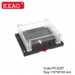 IP54 China supplier small ABS plastic din rail distribution box and electrical enclosure PIC220