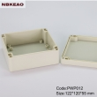 abs box plastic enclosure electronics outdoor enclosure waterproof PWP012 with size 122*120*55mm