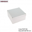 China Plastic Waterproof Enclosure Junction box ip65 plastic enclosure PWP189 with size 200*200*95mm