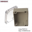 plastic box electronic enclosure waterproof enclosure box for electronic PWP101T with 115*89*55mm