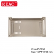 ABS industrial plastic electrical din rail box for pcb power supply module PIC050 with 155*110*64mm
