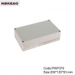 China Plastic Waterproof Enclosure Junction box ip65 plastic enclosure PWP370 with size 200*120*53mm
