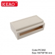 Din Rail electronicd enclosure plastic junction box 2 terminal blocks PIC082 with size160*95*56mm