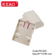 IP 54 water proof V0 materials new design Relay housing PLC din rail junction box PIC420  87*72*60mm