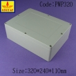 China NEMA rated waterproof & dustproof ABS Electonic Enclosure with size 320x240x110mm