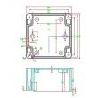NEMA rated waterproof & dustproof ABS Electonic Enclosure PWP002 outdoor electronics enclosure