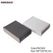 Custom Network Enclosures network switch enclosure abs enclosure box PNC043 with size 180*120*45mm