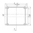 outdoor telecommunication enclosure enclosure box waterproof wall mounting enclosure box PWM171
