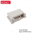Modular box PLC High quality PLC diy case rail din enclosures PIC320 with size 145*91*41mm