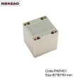 China Plastic Waterproof Enclosure Junction box ip65 plastic enclosure PWP451 with size 80*80*80mm