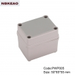 China Plastic Waterproof Enclosure Junction box ip65 plastic enclosure PWP005 with size 50*65*55mm