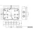 waterproof plastic enclosure abs box plastic  enclosure electronics waterproof enclosure PWP120
