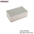 China Plastic Waterproof Enclosure Junction box ip65 plastic enclosure PWP367 with size 200*120*72mm