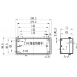 waterproof plastic enclosure waterproof led light enclosure electronic enclosure PWP648 200*100*72mm